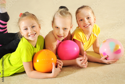 Active sporty girls