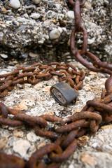 Rusty Padlock and Chain macro