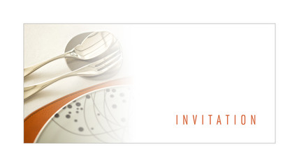 Invitation, carte, carton, marketing, promotion,restaurant, plat
