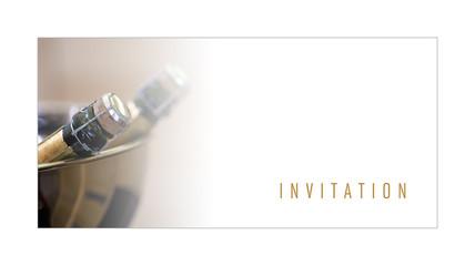 Invitation, carte, carton, marketing, promotion, champagne, vin