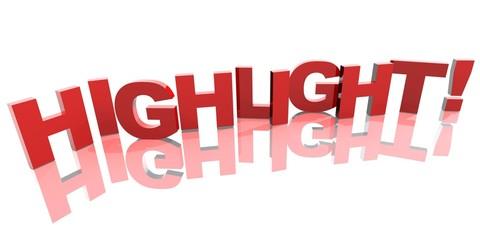 3D Buchstaben - HIGHLIGHT