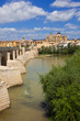 Guadalquivir through Cordoba's Roman bridge and Mosque