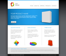 Vector Modern product homepage template