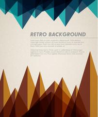 Vector grunge retro background / template