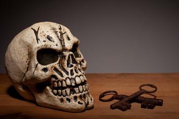 Human Skull With Keys
