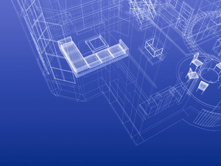 Blueprint wireframe