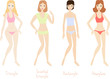4 women's body types