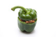 Paprika mit Hackfleisch gefüllt