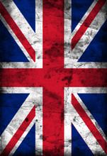 Brytyjski Union Jack Flaga w stylu grunge