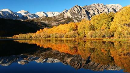 Beautiful Mountain Lake, Vibrant Fall Colors
