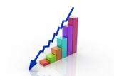 Graph showing decrease in profits poster