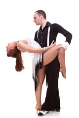 latino couple in a dance pose