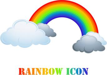 Rainbow icon isolated on white
