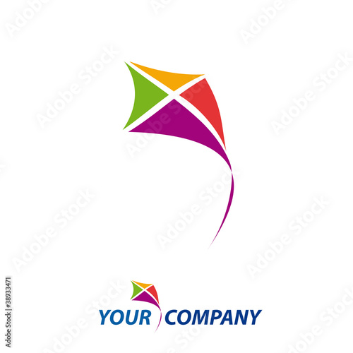 logo kite, concept of freedom # Vector