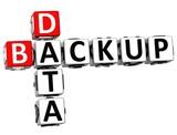 3D Backup Data Crossword poster