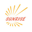 Logo sunrise, Holidays and Tourism # Vector