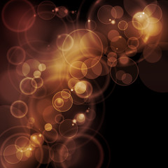 Sepia tone bokeh vector background