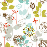 Spring plants seamless pattern