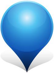 Blue GPS Pin Icon