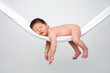 Leinwanddruck Bild - Baby relaxing