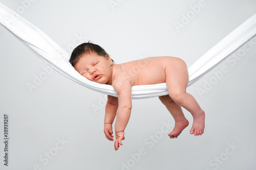 canvas print picture Baby relaxing