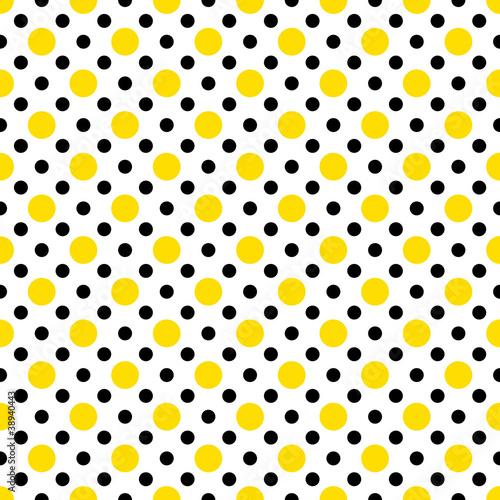 "Yellow And Black Polka Dot Background ""Yellow & ..."