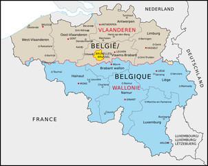 Belgien Verwaltung