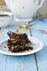 Brownies with pistachio
