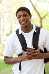 African American College Student smiling
