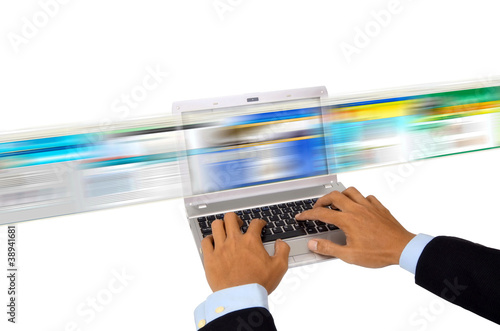 Surfing the internet for information in high speed