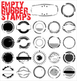 Empty Grunge Rubber Stamps - vector illustration