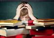 Leinwanddruck Bild - Stressed Student