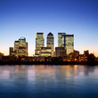 Canary Wharf at twilight