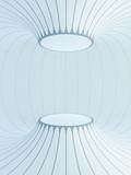 futuristic interior space