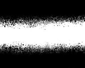 Fondo abstracto, salpicaduras pintura negra, ilustración