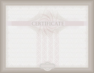 Certificate Guilloche horizontal security