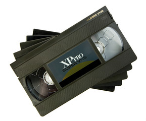 Video cassettes stack