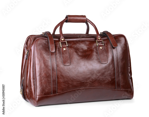 Luxury leather travel bag