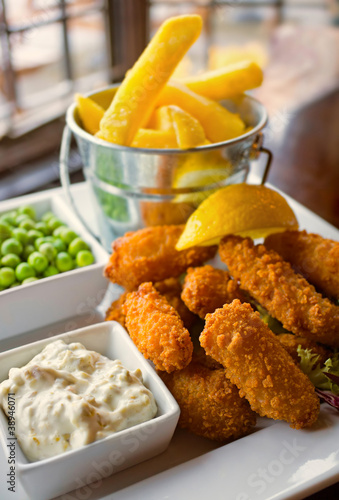 Scampi and Chips meal