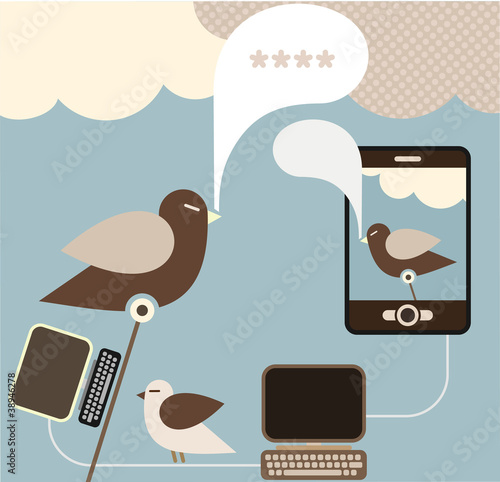 Social Media - vector illustration