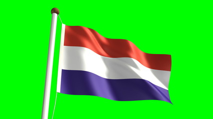 Netherlands flag (Loop & green screen)