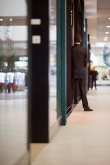 Guards at shopping center