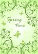 Spring vintage banner