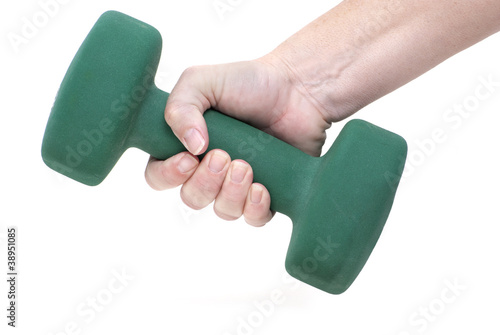 Holding Dumbbell