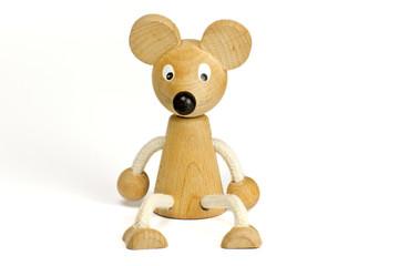 Maus aus Holz / Kantehocker / Spielzeugmaus
