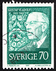 Postage stamp Sweden 1967 King Gustaf VI