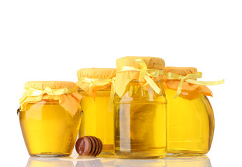 Honey isolated on white