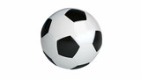 soccer ball spinning on its axis poster