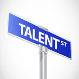 Talent sign poster