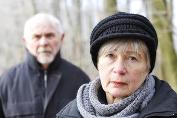 Depressed Senior Couple 4